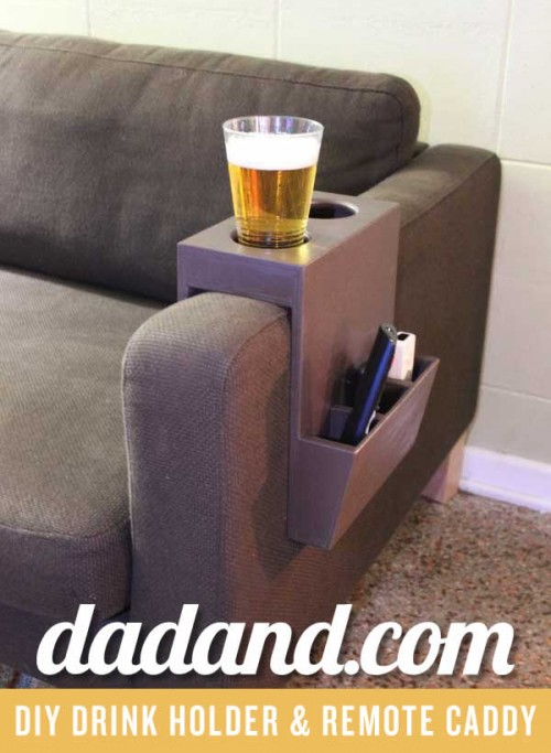 beverage and remote caddy (via dadand)