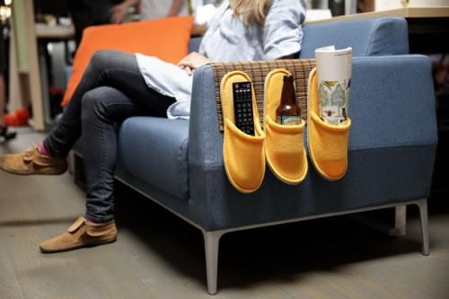 Creative Storage: 8 DIY Sofa Caddies And Holders - Shelterness