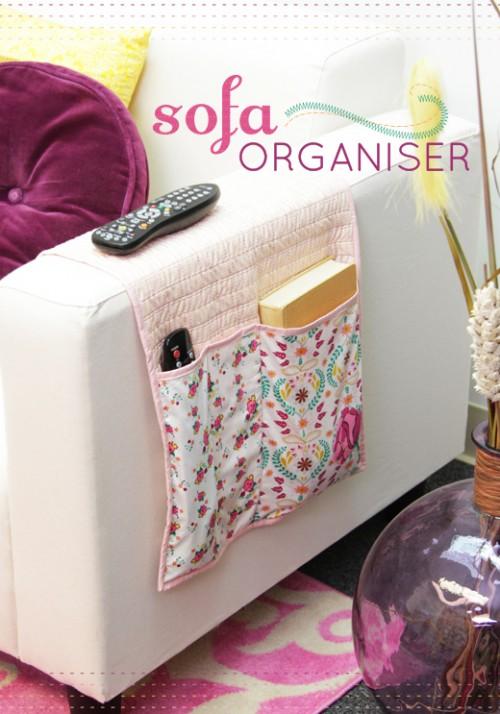 sofa organizer from vintage fabric (via artgalleryfabrics)