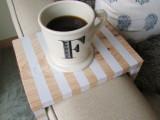 striped drink bench
