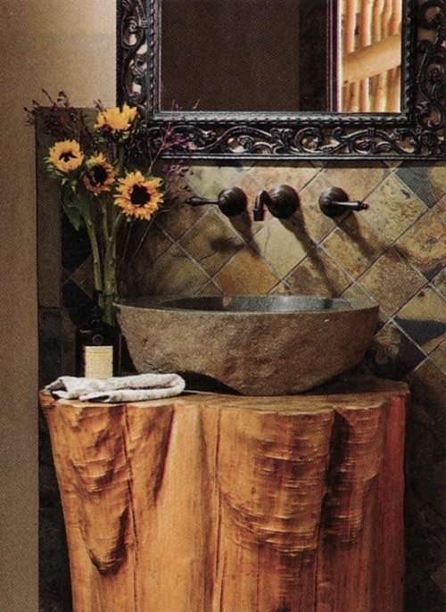 Tree Stump Vanity