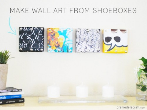 Creative DIY Wall Art From Shoeboxes