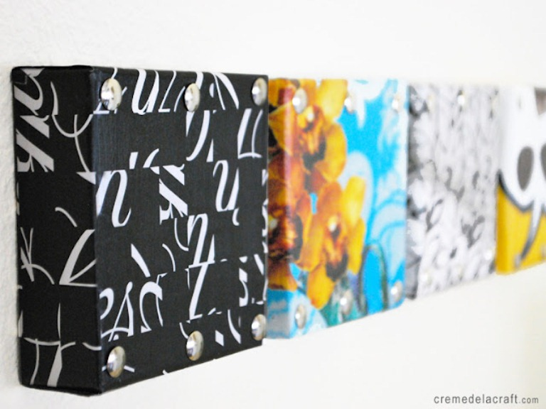 Creative Wall Art From Shoeboxes
