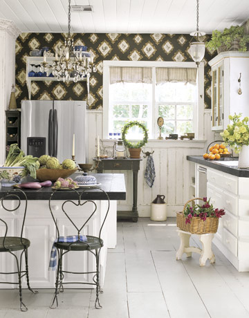 Fabric Wallpaper: Kitchen Wallpaper Ideas