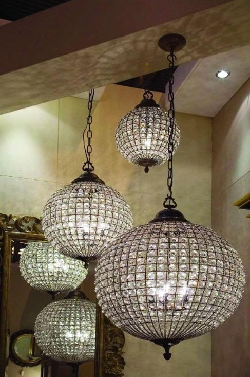 ideas   crystal ball chandeliers  interior decorating shelterness