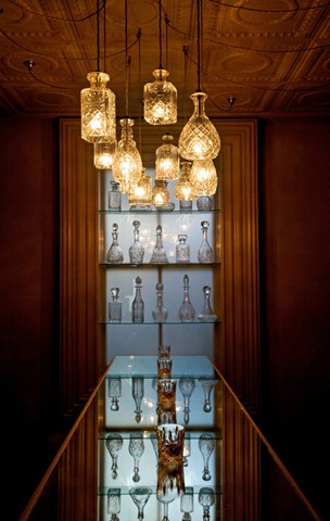 Crystal Decanters As Pendant Lights