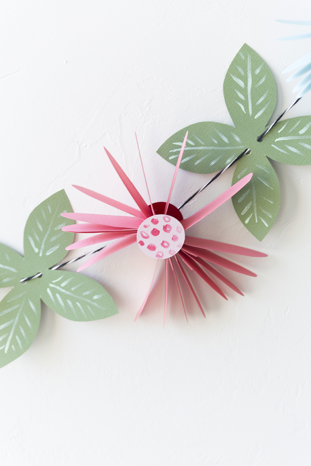 Picture Of cute and easy diy paper flower garland  3