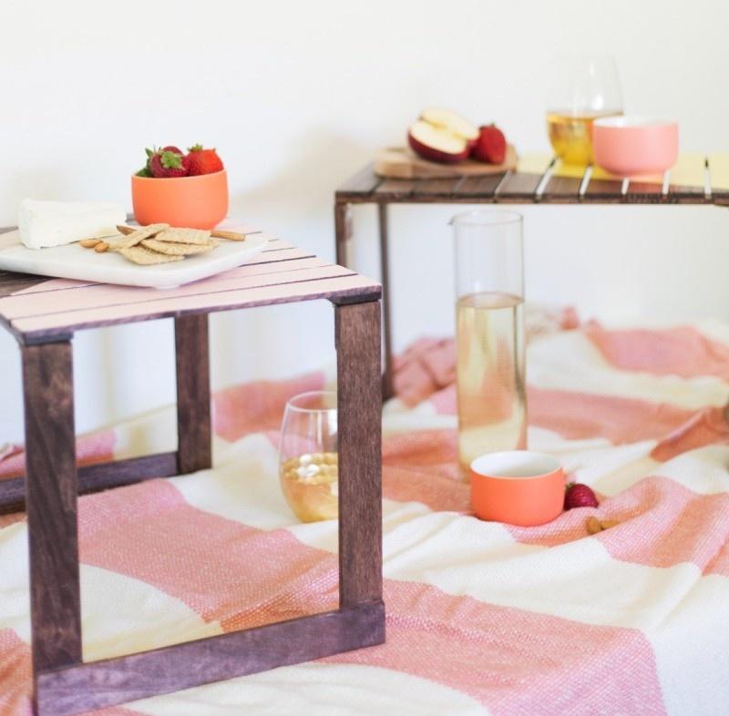 Picture Of cute and pretty diy mini picnic tables  1