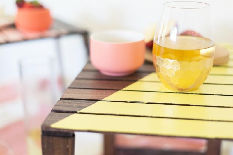 Picture Of cute and pretty diy mini picnic tables  2