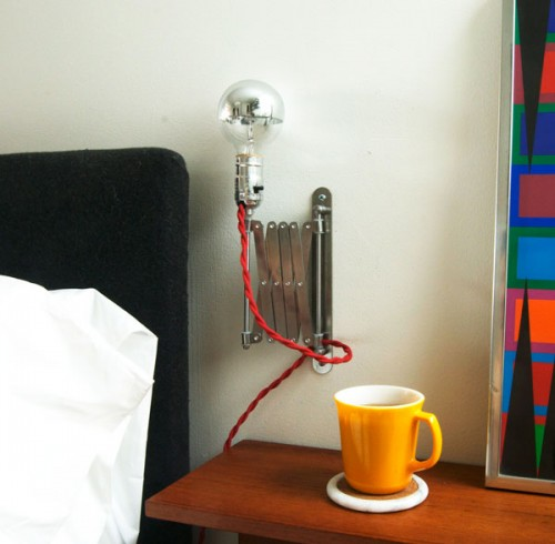Ridiculously Cool DIY Expandable Bedside Lamp