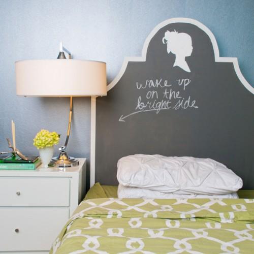 Cute Chalkboard Headboard