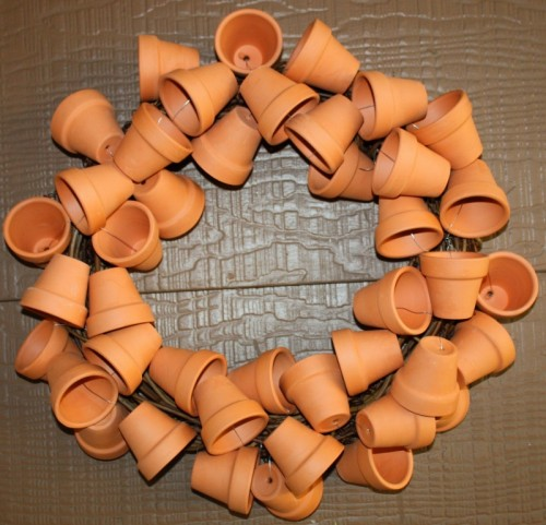 Cute Clay Pot Wreath