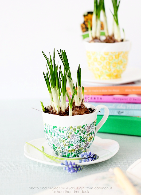 Picture Of cute decoupage diy spring inspired planters  1