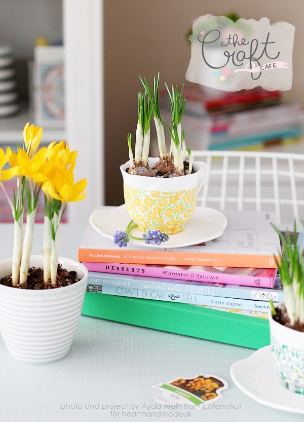 Picture Of cute decoupage diy spring inspired planters  2