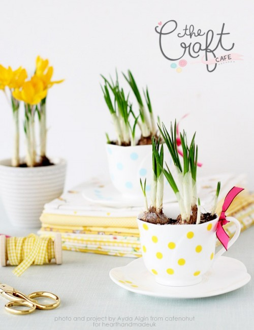 Cute Decoupage DIY Spring Inspired Planters