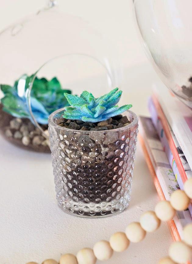 Cute Diy Acrylic Felt Succulents