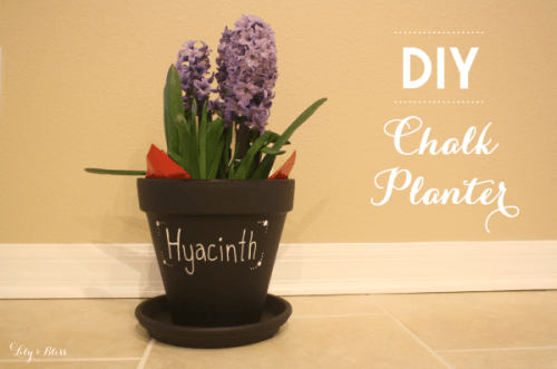 chalk planter (via lilyandbliss)