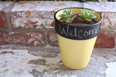 colorful chalkboard planter (via julieannart)