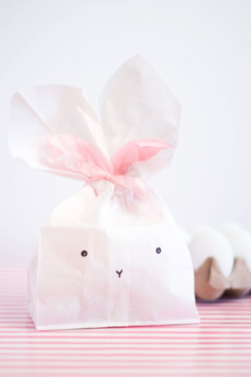 11 cute diy easter gift wraps boxes and tags shelterness bunny favor bags via confettisunshine negle Gallery