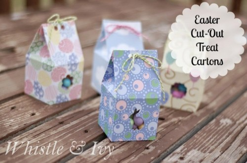 11 cute diy easter gift wraps boxes and tags shelterness easter treat cartons via whistleandivy negle Gallery