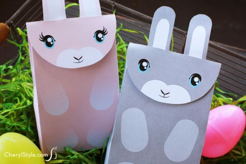 11 cute diy easter gift wraps boxes and tags shelterness printable bunny bags via everydaydishes negle Gallery