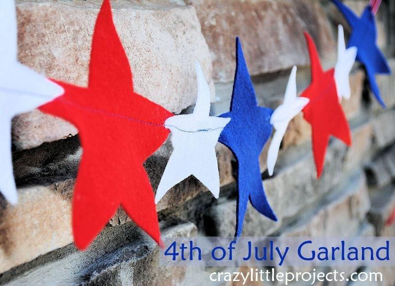 Cute Diy Felt Garland For 4th Of July