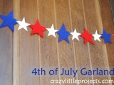 Cute Diy Felt Garland For 4th Of July
