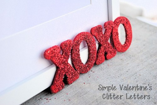 Cute DIY Glitter Letters For Valentine's Day