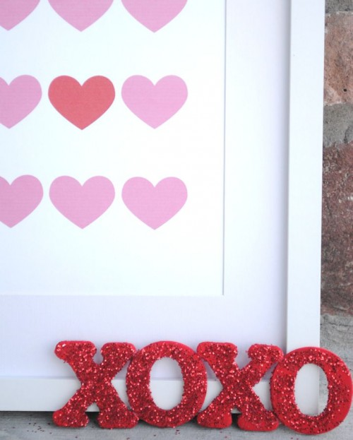Cute Diy Glitter Letter For Valentines Day