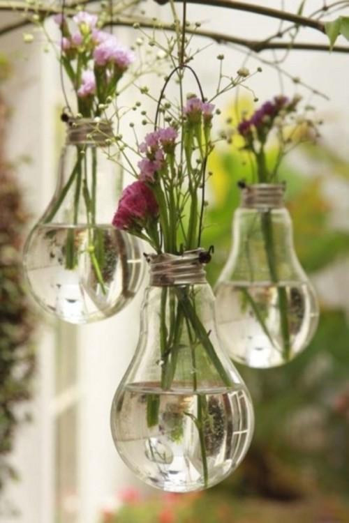 Vase aus Glühbirne selber machen