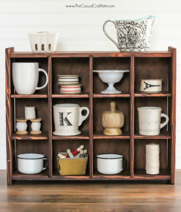 Picture Of cute diy mahogany cubby organizer  1