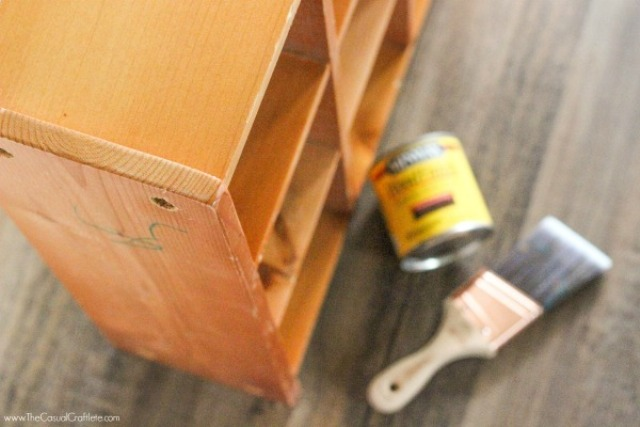 Picture Of cute diy mahogany cubby organizer  3