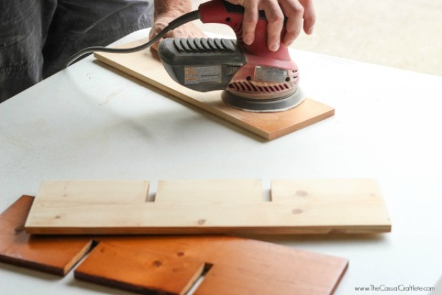 Picture Of cute diy mahogany cubby organizer  4