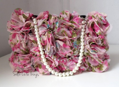 Cute Diy Makeup Bag With Pearls