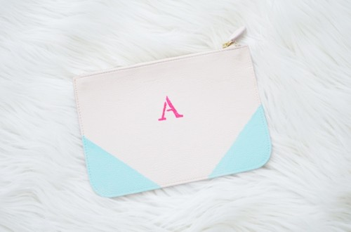 Cute Diy Monogram Clutch To Make