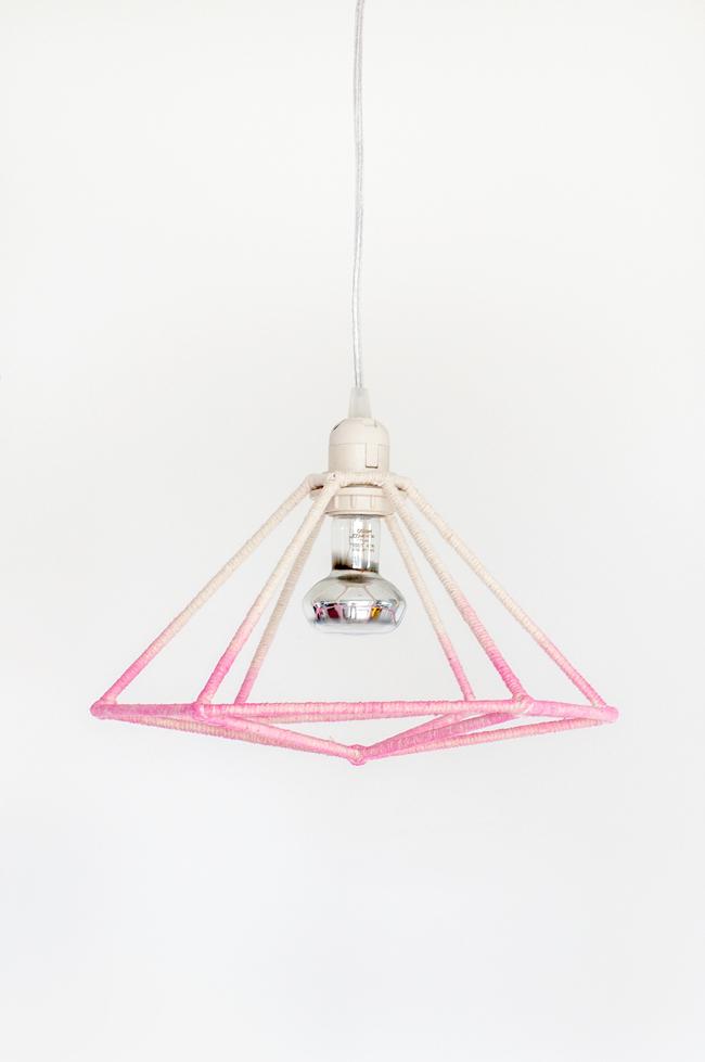 Cute DIY Ombre Hexagon Lampshade