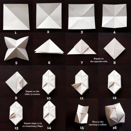 Cute Diy Paper Cube String Lights
