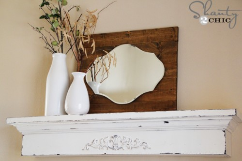 Floating Shabby Chic Shelf