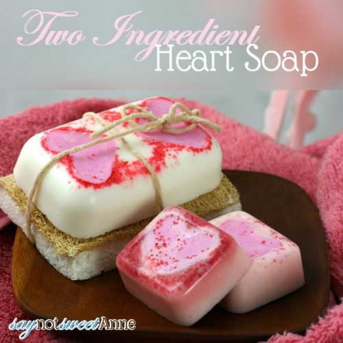 two ingredient heart soaps (via saynotsweetanne)