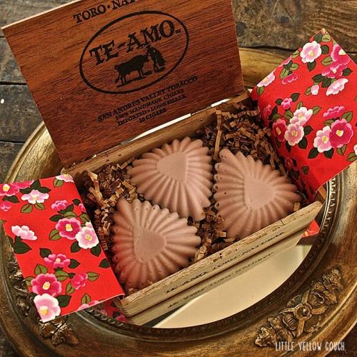vintage Valentine soaps (via littleyellowcouch)