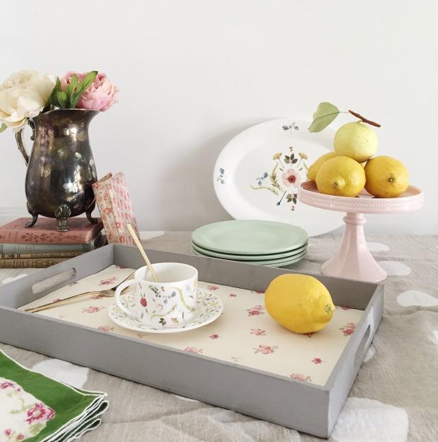 Picture Of cute diy wallpaper breakfast tray  1
