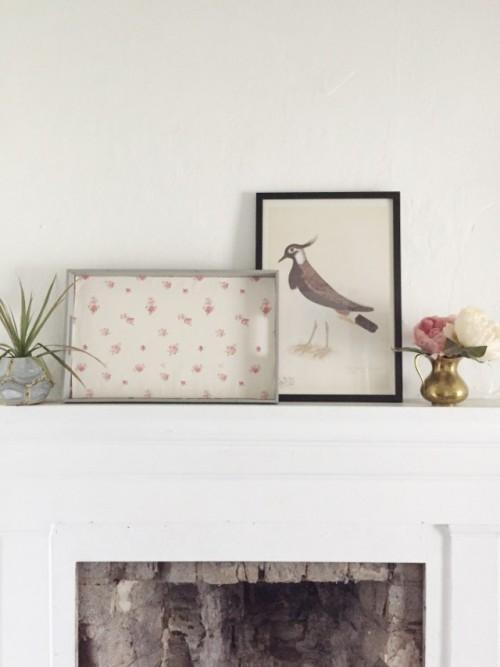 Cute DIY Wallpaper Breakfast Tray