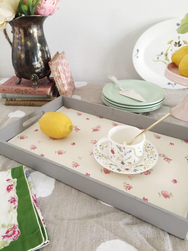 Picture Of cute diy wallpaper breakfast tray  6