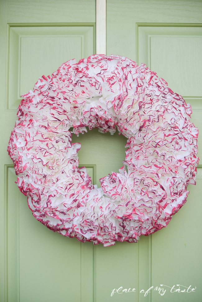Picture Of cute diy watercolor coffee filter wreath  1
