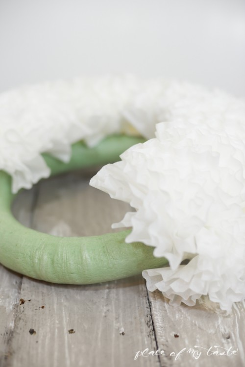 Cute DIY Watercolor Coffee Filter Wreath - Shelterness
