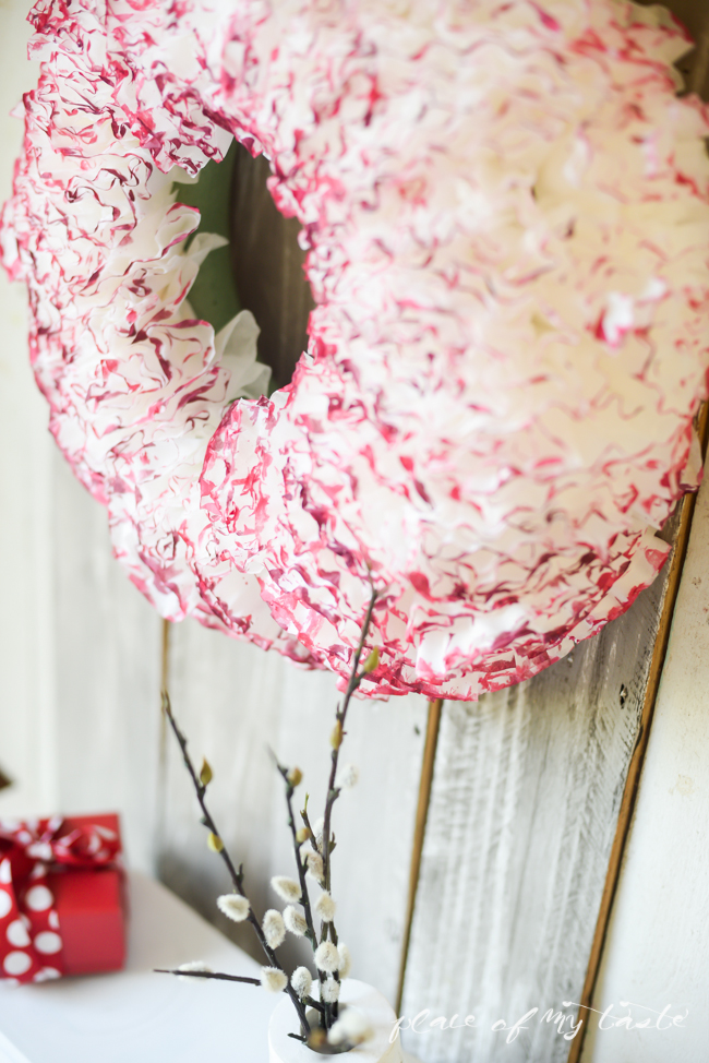 Picture Of cute diy watercolor coffee filter wreath  8