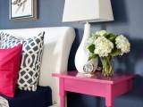 small pink nightstand