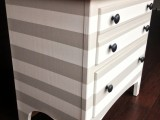 striped nightstand