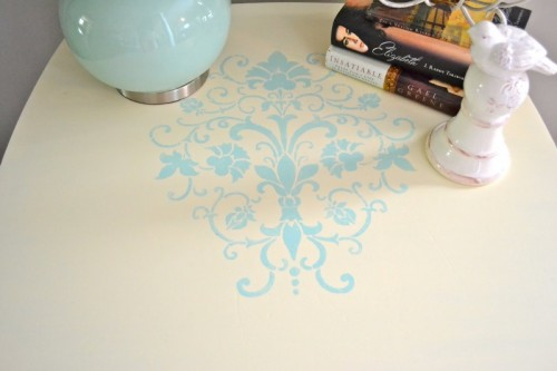 stenciled nighstand  (via shelterness)