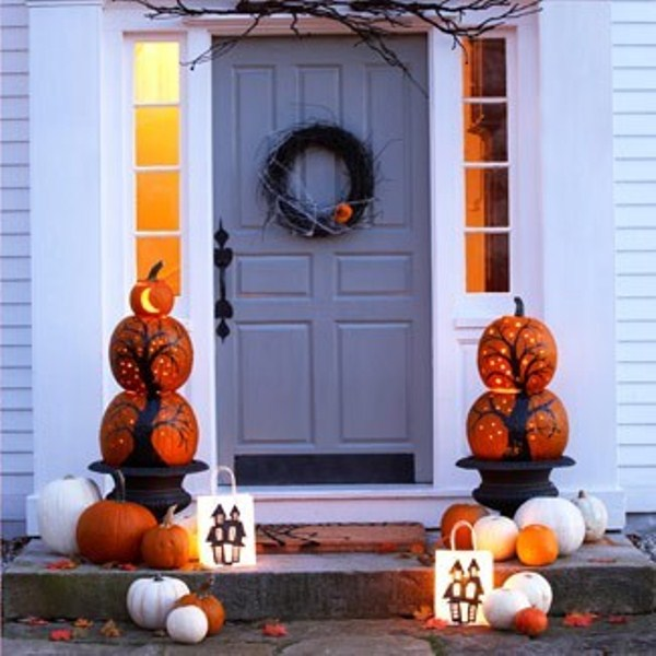 Cute fall porch decor ideas shelterness - Decoration halloween maison ...